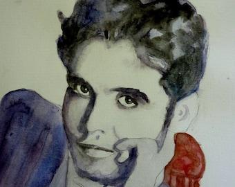 WATERCOLOR Federico Garcia Lorca