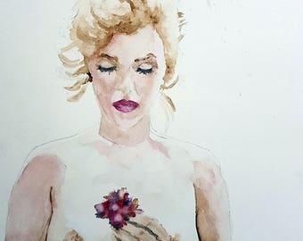 watercolor actress Marilyn