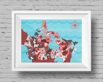 Canada Illustrated Map