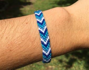 Custom Knotted Friendship Bracelet - Chevron