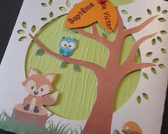 share with Fox woodland theme