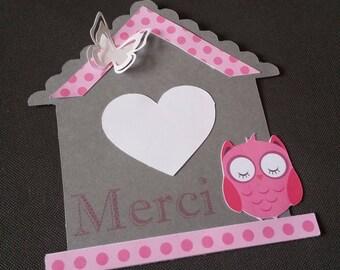 OWL thank you card