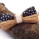 Bow tie with natural cork fabric - handmade in France - ideal as a gift for coworker or witness wedding - James