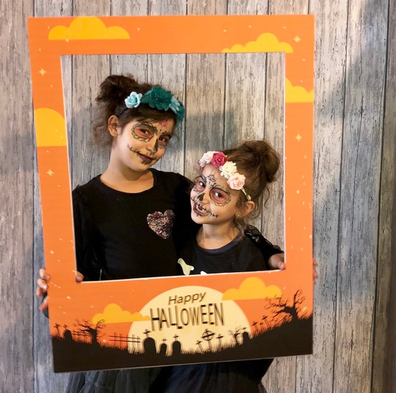 Custom Photo Booth Polaroid Frame Halloween Pumpkin Photo Prop
