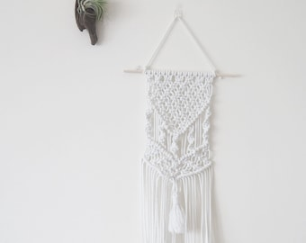 Macrame Wall Hanging Weave, White, Natural