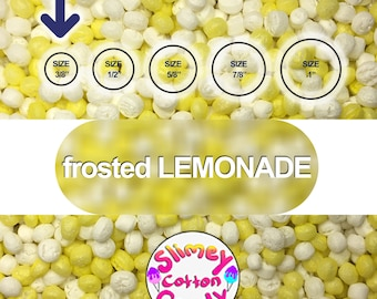 """Large Box/Bag 8"""" x 7"""" x 3"""" - Marshmallow Foam Beads For Slime - frosted LEMONADE color"""