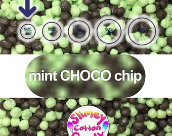 """Large Box/Bag 8"""" x 7"""" x 3"""" - Marshmallow Foam Beads For Slime - Mint CHOCO chip color"""