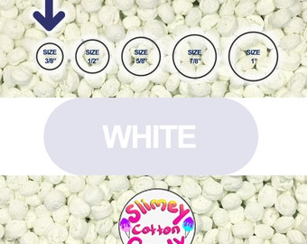 """Large Box/Bag 8"""" x 7"""" x 3"""" - Marshmallow Foam Beads For Slime - White Color"""