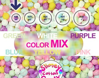 """Large Box/Bag 8"""" x 7"""" x 3"""" - Marshmallow Foam Beads For Slime - Mixed Colors"""