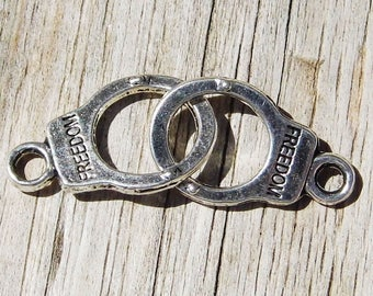 4 connector handcuff freedom 30 x 10mm - silver