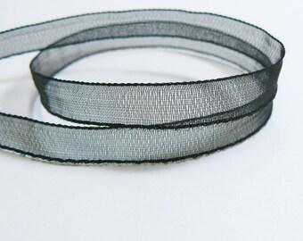5 m Organza Ribbon Black 7mm