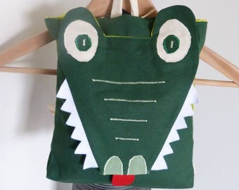 Kindergarten backpack * CROCODILE * adjustable straps