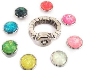 242f714f6cbf Bague Snap élastique à bouton pression MINI 12mm et ses 8 boutons pression  interchangeables
