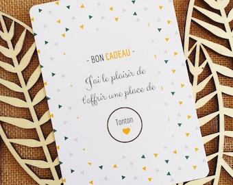 Tonton - Scratch Pregnancy Announcement Card - Gift Voucher