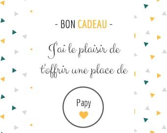 Papy - Scratch Pregnancy Announcement Card - Gift Voucher
