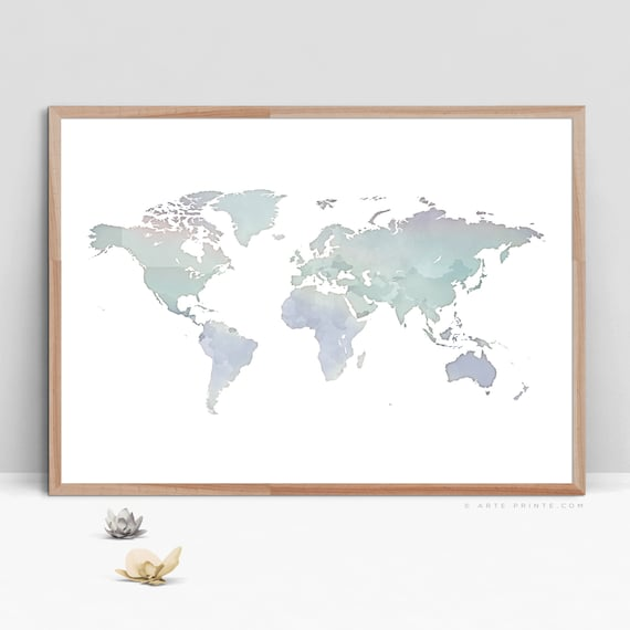 graphic regarding Large Printable World Map named Substantial Environment MAP Wall Artwork Printable World-wide Map Eco-friendly Mint Violet Wall Decor Residing Area Wall Artwork Nursery Pastel Artwork World-wide Map Electronic Obtain