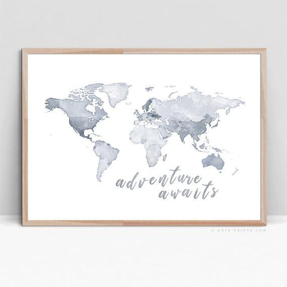 Vintage Map 35 The World Globe Atlas Art Print A4 A3 A2 A1