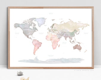 World map print etsy best selling items gumiabroncs Image collections