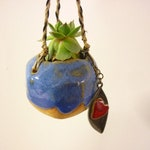 Suspension plant,tiny plant, pottery plant to hang, small ball, sandstone, garden decoration indoor outdoor, balcony