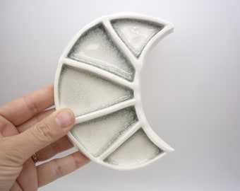 Moon, porcelain, art object, empty pocket, jewelry cup, red tribe workshop,