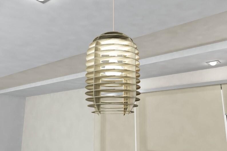 Kroonluchter capsule. dxf bestand voor cnc. multiplex hanglamp etsy