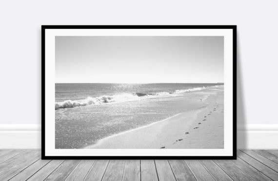 Beach House Art Black White Wall Art Beach Print Digital Etsy