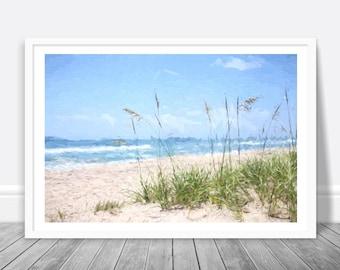 Coastal Wall Art, Beach Art Print, Ocean Painting, Coastal Decor, Ocean Download, Beach Decor, Beach Dowload, Large Print Printable Wall Art