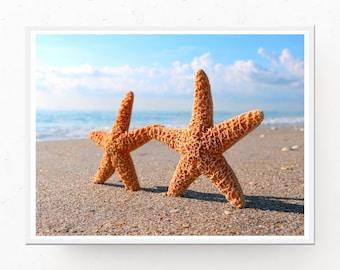 Starfish Photo Download, STARFISH WALL ART, Bathroom Wall Art, Starfish Printable, Inspirational Art, Starfish Photograph, Beach Photography