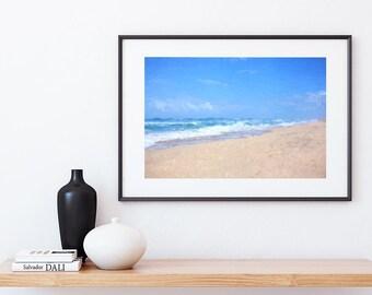 Beach Print - Beach Wall Art, Digital Download, Ocean Print, Coastal Wall Art, Beach Decor, Beach Print, Printable Wall Art, Beach Art Print