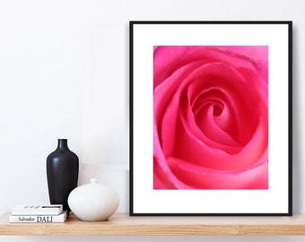 Pink Wall Art - Pink Photograph, Contemporary Wall Art, Pink Photo Download, Pink Wall Decor, Flower Photography, Fine Art Print, Pink Print