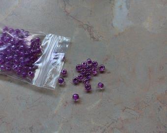 Big rock violet beads 4.5 mm