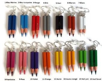 Colored pencils, teacher gift - school gift - gift AVS earrings