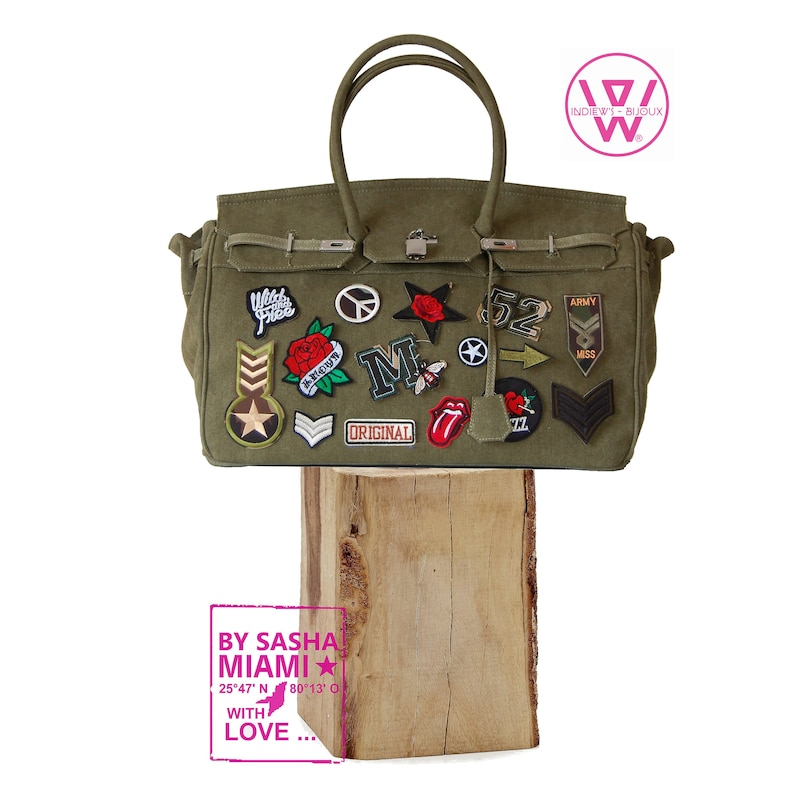 d45c59831d1 Army baghandbag45 cm kakihandmade bag designer with form