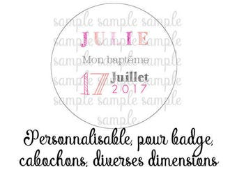 Customizable digital images for baptism
