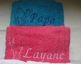 Custom / personalized bath towel or napkin