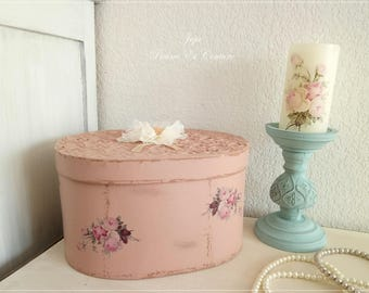 Boxes to Hat Shabby romantic Chic, vintage storage box