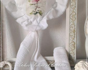 "Hand Towel + Set of 2 Guest Towels French Campagne ""Les chiffons élégants"""