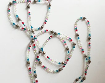 Bronze and multicolor necklace