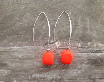 creapam vip ORANGE neon earrings