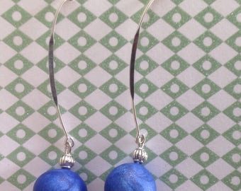 VIP iridescent electric blue earrings