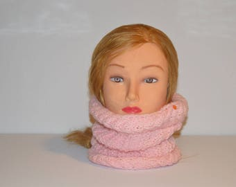 hand knitted wool neck