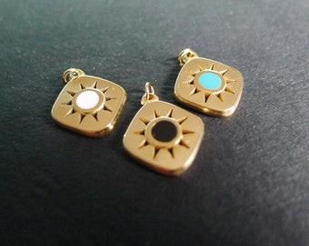 X6 golden round brass pearl 4x5mm