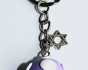 cute mario mushroom keychain