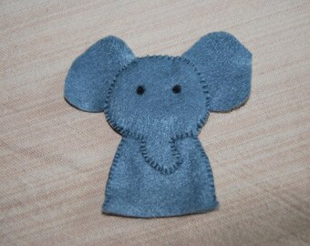 felt finger puppet animals elephant
