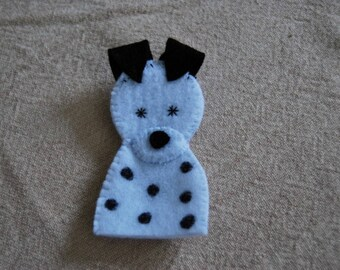felt finger puppet animals various Dalmatian