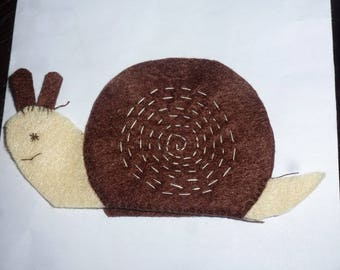 felt finger puppet animals snail