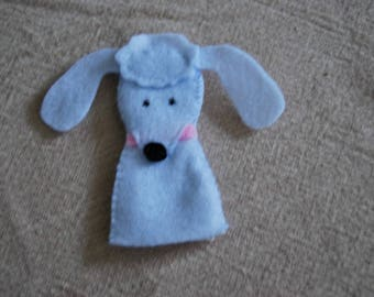 felt finger puppet animals various poodle