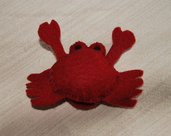 felt finger puppet animals crab