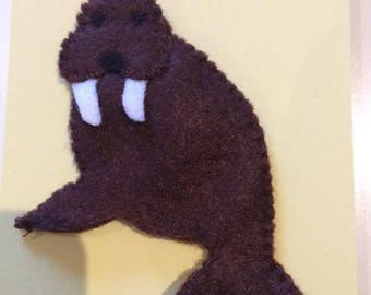 felt finger puppet animals morse