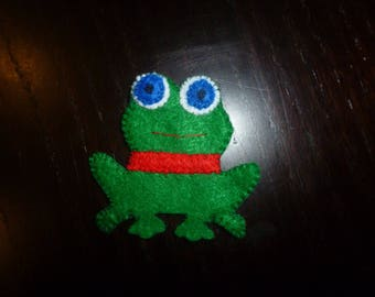 animal felt finger puppet frog with or without scarf (mitten)